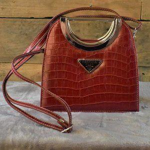 Vintage Pagoda Midland Red Handbag